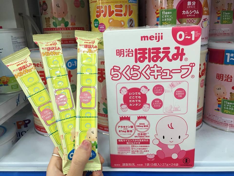 Sữa meiji thanh 0-1 tháng tuổi cho bé ( 25kthanh...