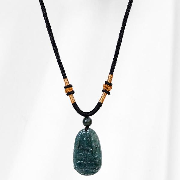 Mặt dây chuyền phật bản mệnh tuổi tý thiên thủ thiên nhãn đá cẩm thạch nước ngọc