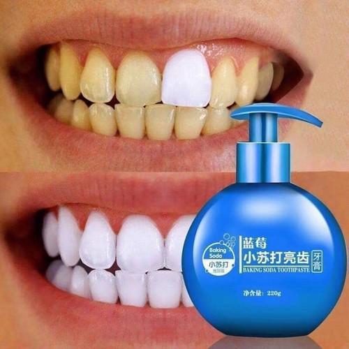 Kem đánh răng Baking soda Toothpaste dạng xịt 220g, kem làm trắng răng Baking Soda - HÀNG NỘI ĐỊA TRUNG nhập khẩu