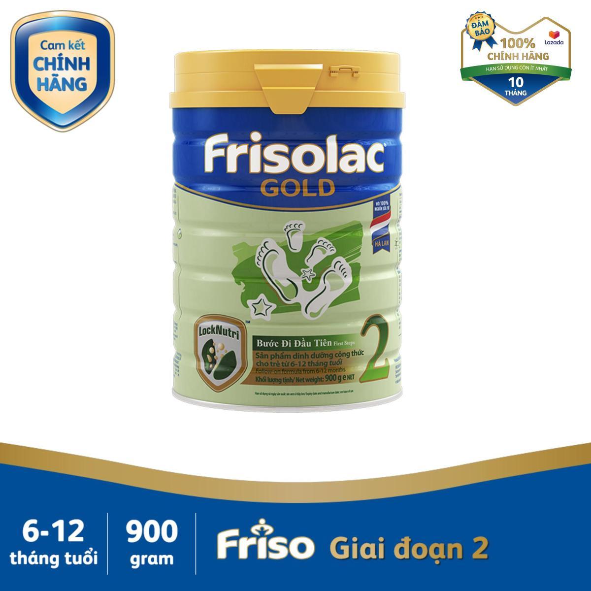 Sữa Bột Friso Gold 2 900g Cho Trẻ Từ 6-12 Tháng - Cam Kết HSD ít Nhất 10 Tháng Giá Rẻ Nhất Thị Trường