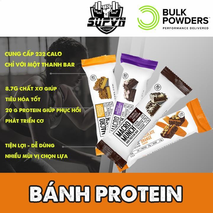 Bánh Protein Bar Macro Munch - Bữa ăn dinh dưỡng tiện lợi niều protein ít đường hỗ trợ phát triển tăng cơ cao cấp
