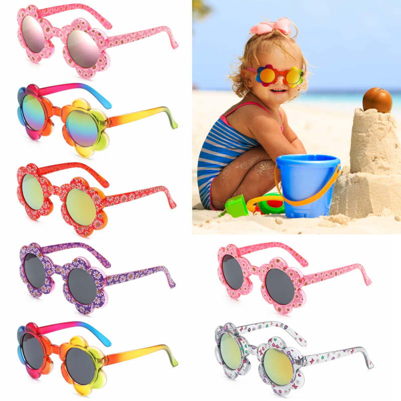 Giá bán REPAIR RESENTMENT35RE0 Cute Colorful Travel Party Favors Flower Shaped Round Flower Sunglasses Sunglasses for Toddler Girls Boys Kids Sunglasses