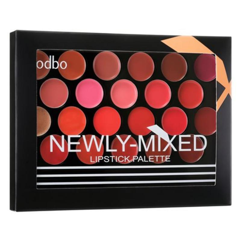 BẢNG 22 MÀU SON ODBO NEWLY MIXED LIPSTICK PALETTE-THAILAND#01 cao cấp