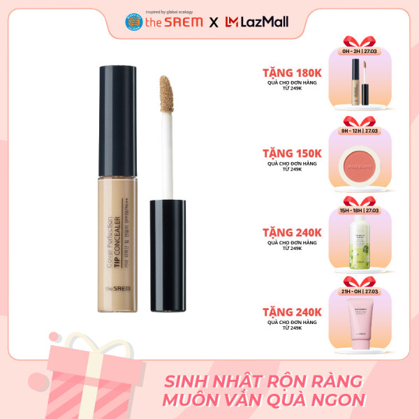 Kem che khuyết điểm The Saem Cover Perfection Tip Concealer (6.5g)