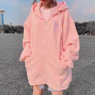 [FREESHIP TOÀN QUỐC] Áo khoác nỉ nữ thêu tim form rộng phối màu phong cách Hàn Quốc đi học đi chơi 2