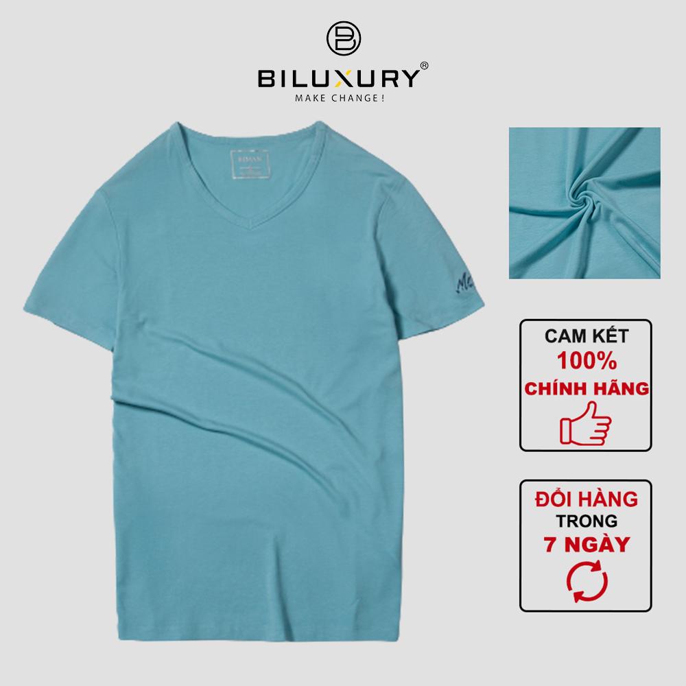 BILUXURY - Áo phông nam thun cotton Biman by Biluxury co giãn tốt, thoải mái vận động  5APKB001XNG - 5APKB002XNG