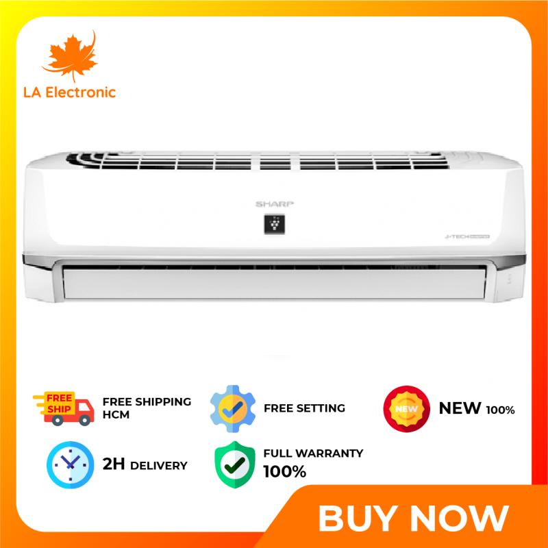Trả Góp 0% - Máy Lạnh - Sharp Inverter 1.5 HP Air Conditioner AH-XP13WHW Full VAT - Miễn phí vận chuyển HCM