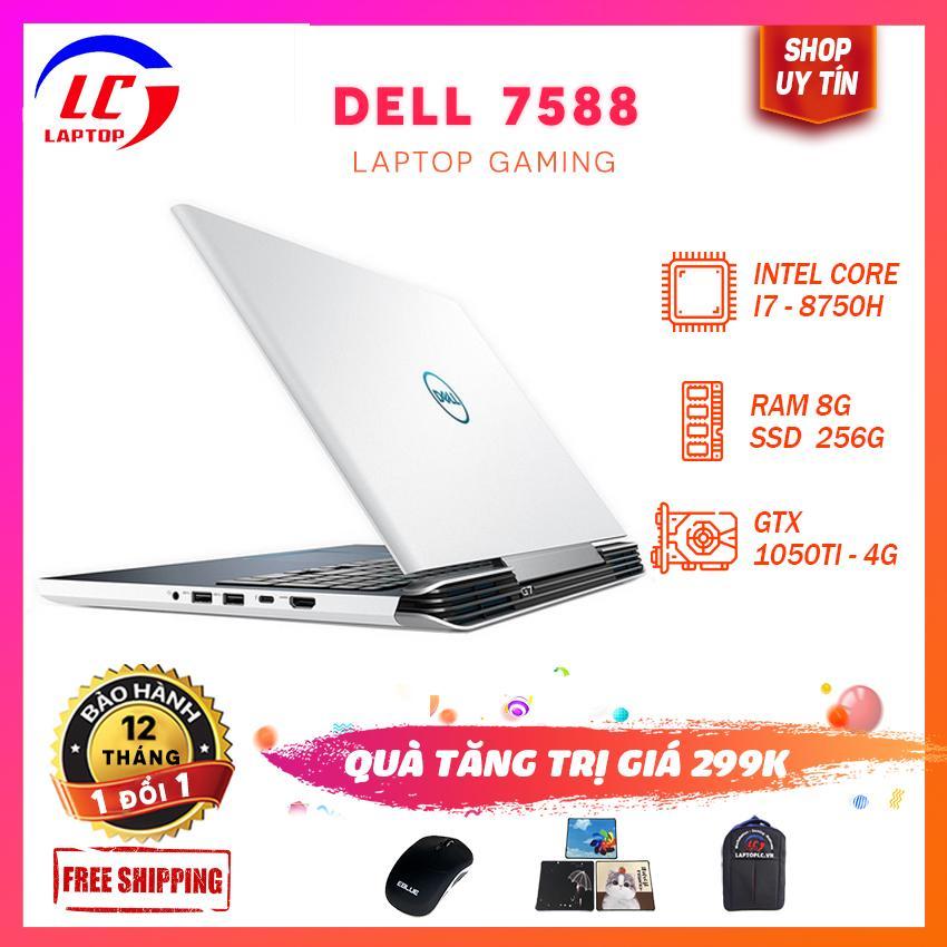 [BẢO HÀNH  12 THÁNG] Dell 7588 G7  Chip 12 Luồng Cực Mạnh( I7-8750H, RAM 8G, SSD 256G + HDD 1T, Card Rời Nvidia GTX 1050Ti -4G, Màn 15.6 FullHD IPS ) - Laptoplc Giá Rẻ Bất Ngờ