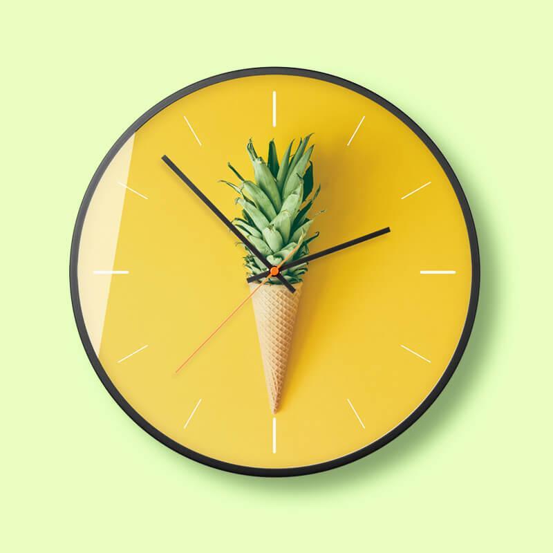 Nơi bán Đồng hồ treo tường tròn DH088A04 - nhiều mẫu đồng hồ treo tường mặt kính