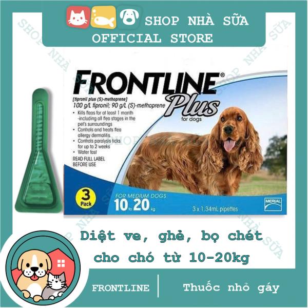 Thuốc Nhỏ Gáy Trị Ve và Bọ Chét Trên Chó 10-20kg - FRONTLINE PLUS DOG - 1 tuýp - Nông Trại Thú Cưng