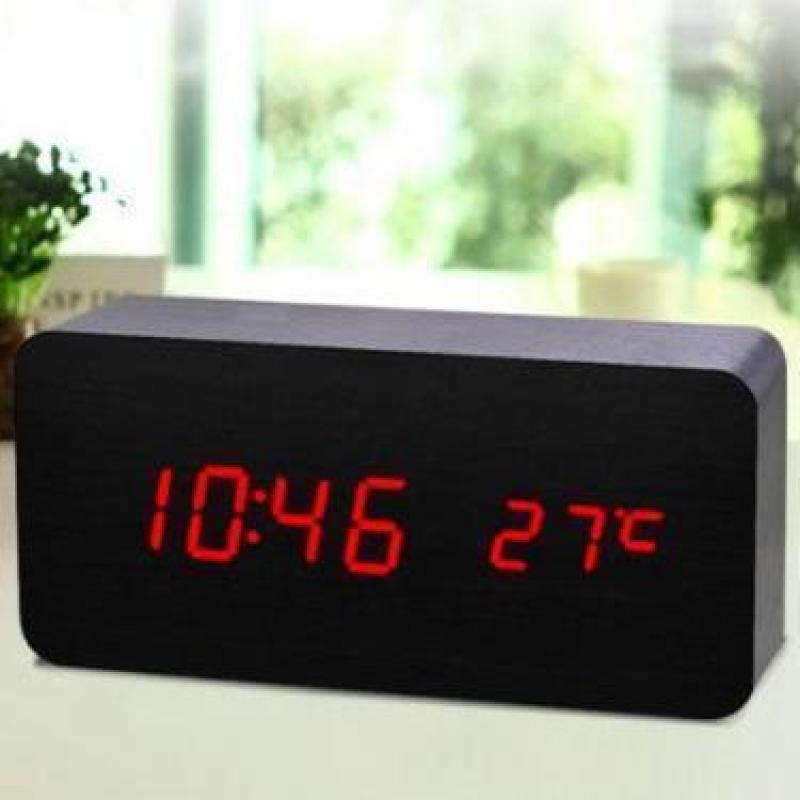 (TẶNG PIN & Dây Cap) Đồng hồ để bàn - Đồng hồ điện tử led để bàn - Đồng hồ báo thức kèm nhiệt kế - VNY DH003 bán chạy
