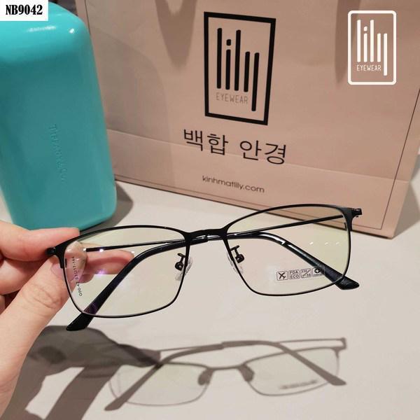 Mua [Lấy mã giảm thêm 30%]Kính Gọng Mảnh Nam Nữ 9042 - Kính Cận Kim Loại-Gọng Kính Hàn Quốc-Gọng Kính Unisex-Gọng Kính Thời Trang-Lily Eyewear