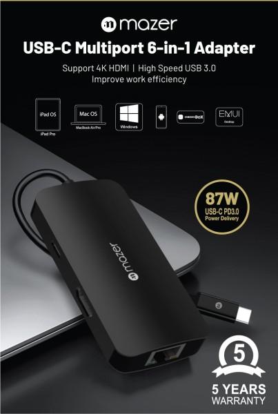 Bảng giá Cổng Chuyển Đổi Mazer USB-C 6-in-1 HUB Phong Vũ