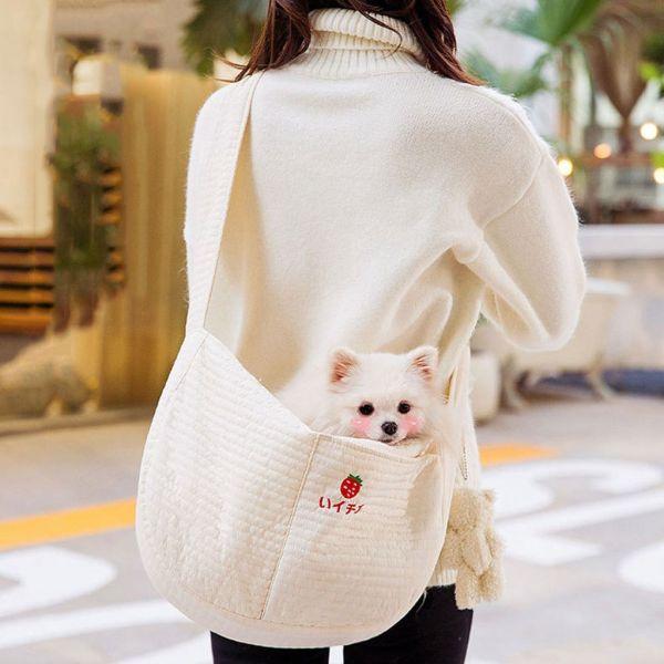 JKRSDF Thoáng khí Trọng lượng nhẹ Lưới thép Túi đồ ăn nhẹ cho thú cưng Đồ dùng ngoài trời cho thú cưng để Đi bộ, Du lịch Túi thú cưng Túi đeo vai đơn Người vận chuyển chó Cat Slings Pouch