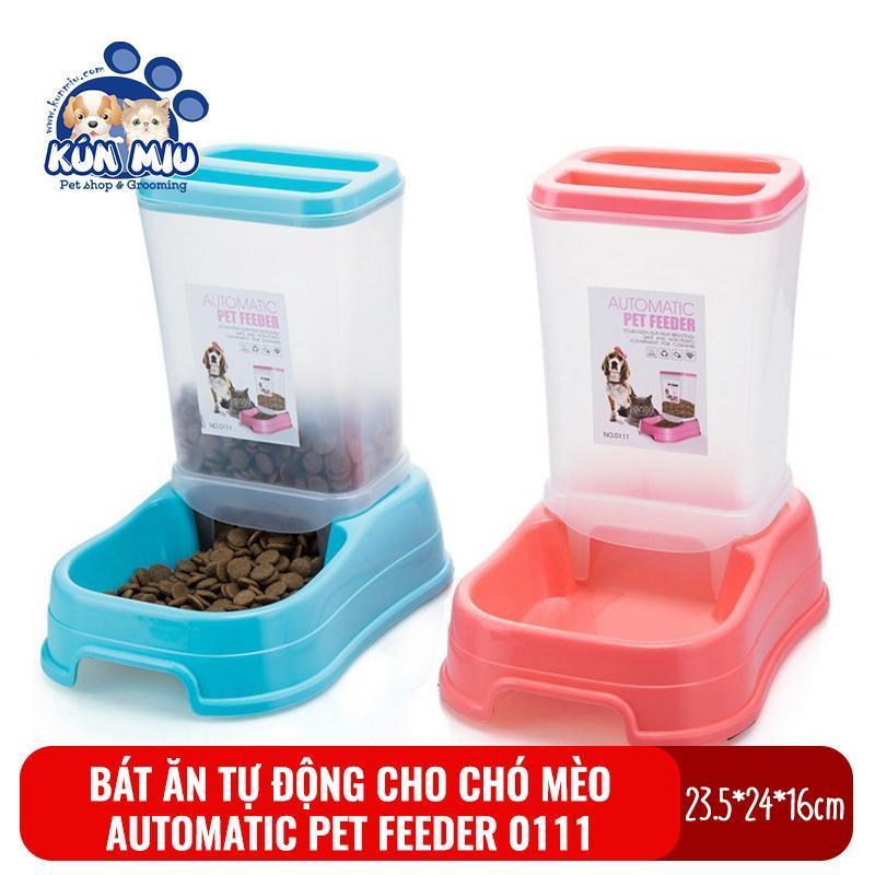 Bát ăn tự động cho chó mèo Kún Miu 0111 chất liệu nhựa (Automatic Pet Feeder)