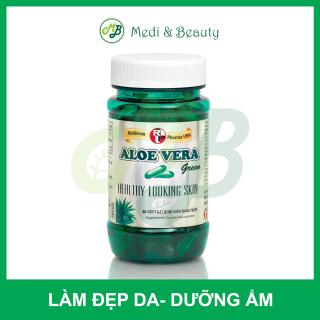 Viên uống đẹp da,hỗ trợ giữ ẩm cho da,nhuận tràng ALOE VERA Green - Robinson Pharma usa - chai 60 viên thumbnail
