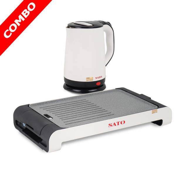 Combo - Bếp nướng điện SATO ST-400ND và ấm siêu tốc SATO ST-1807
