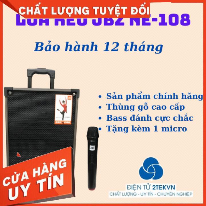 [Được thử hàng] Loa Karaoke vali kéo JBZ NE-108 Bluetooth Tặng kèm Micro Không Dây
