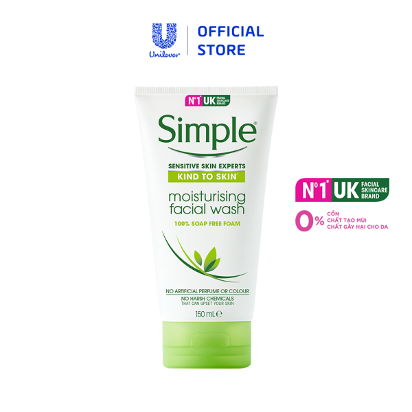 Sữa rửa mặt dưỡng ẩm Simple Moisturising Facial 150ml