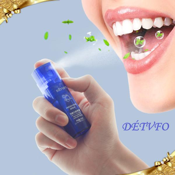 Xịt thơm miệng dài lâu diệt vi khuẩn và mảng bám trên răng DÉTVFO Đài Loan