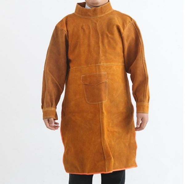 Áo khoác da bò chịu nhiệt chuyên dụng cho thợ hàn