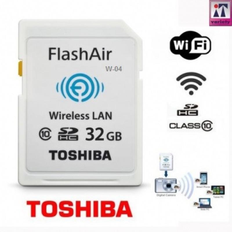 ❤️ Thẻ nhớ Wifi ❤️ Thẻ nhớ TOSHIBA Wifi SDHC FlashAir W-03 90mb/s (Bảo hành chính hãng 2 năm)