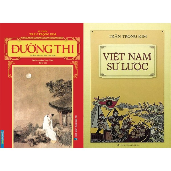 nguyetlinhbook Combo Sách - Tác Giả Trần Trọng Kim: Đường Thi + Việt Nam Sử Lược (nguyetlinhbook)