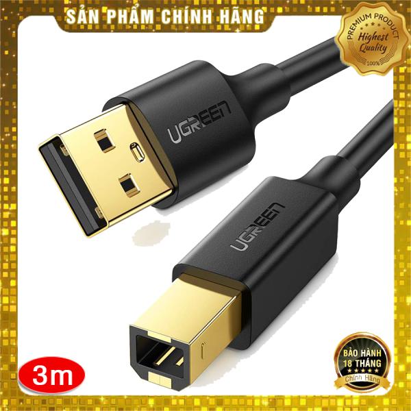 Bảng giá Cáp máy in Ugreen 10351 dài 3m chuẩn USB 2.0 cao cấp - Hapustore Phong Vũ