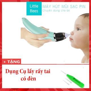 Máy hút mũi cho bé Máy hút mũi cho trẻ em Dụng cụ hút mũi thông minh tại nhà Little Bees Tặng kèm Dụng cụ lấy rấy tai có đèn thumbnail