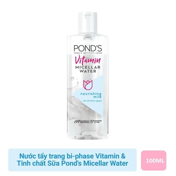 ( 100ml - HSD12/2022) Nước tẩy trang bi-phase Vitamin và tinh chất Sữa Ponds Micellar Water
