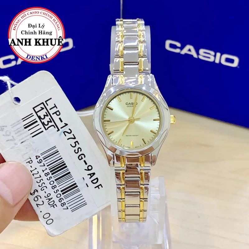 [MỚI NHẤT] Đồng hồ Nữ dây kim loại Casio LTP-1275SG-9ADF chính hãng Anh Khuê