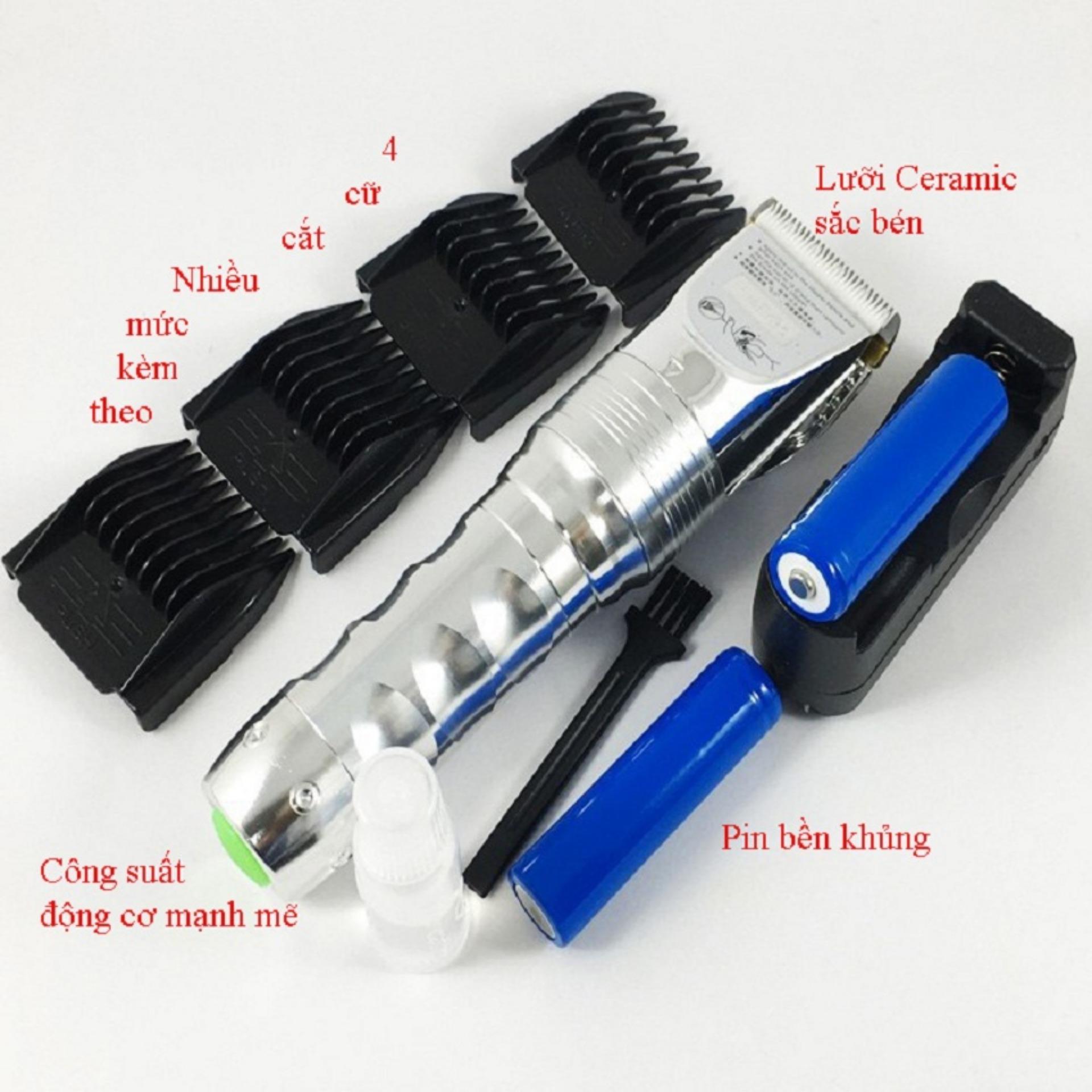 Tông đơ cắt tóc - Tông đơ - Tông đơ cắt tóc trẻ em - Tông Đơ Không Dây Cao Cấp Hai Pin HUEARBO F10 - Gia dụng hot tốt nhất