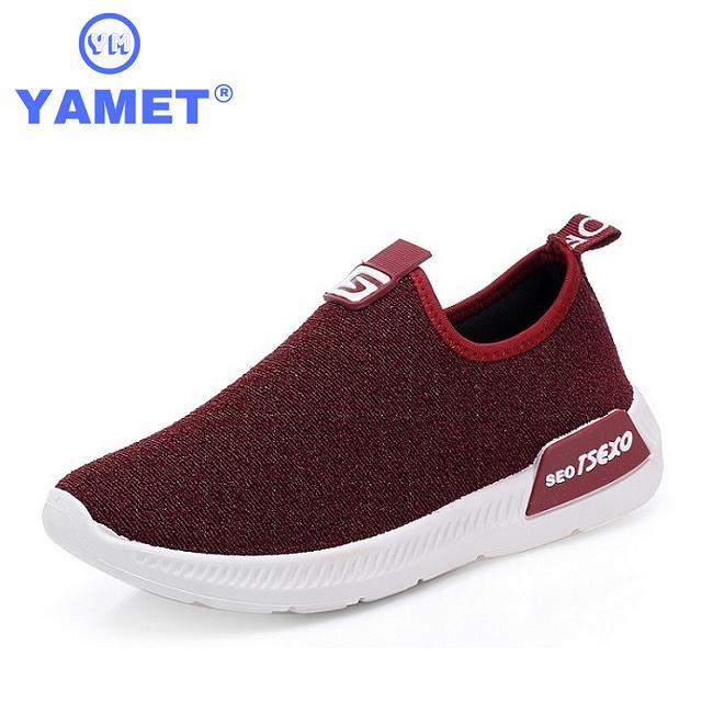 Giày Sneaker Nữ Mẫu Mới Siêu Hot YAMET YM-35342 Màu Đỏ Đô