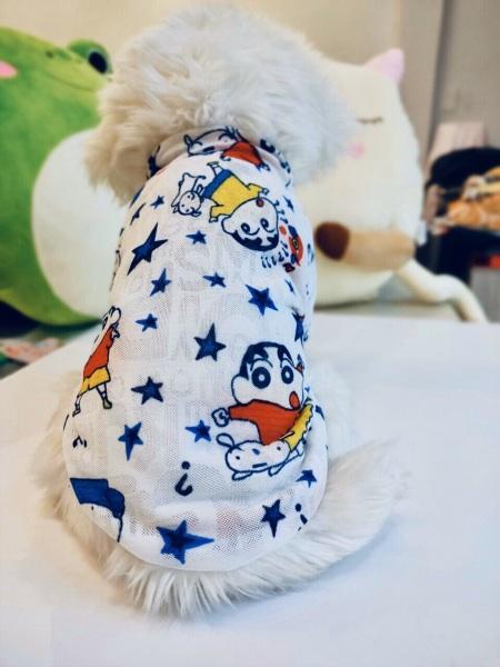 Áo thun 3D hoạ tiết hình shine dành cho thú cưng, Quần áo chó mèo LaLi Petfashion