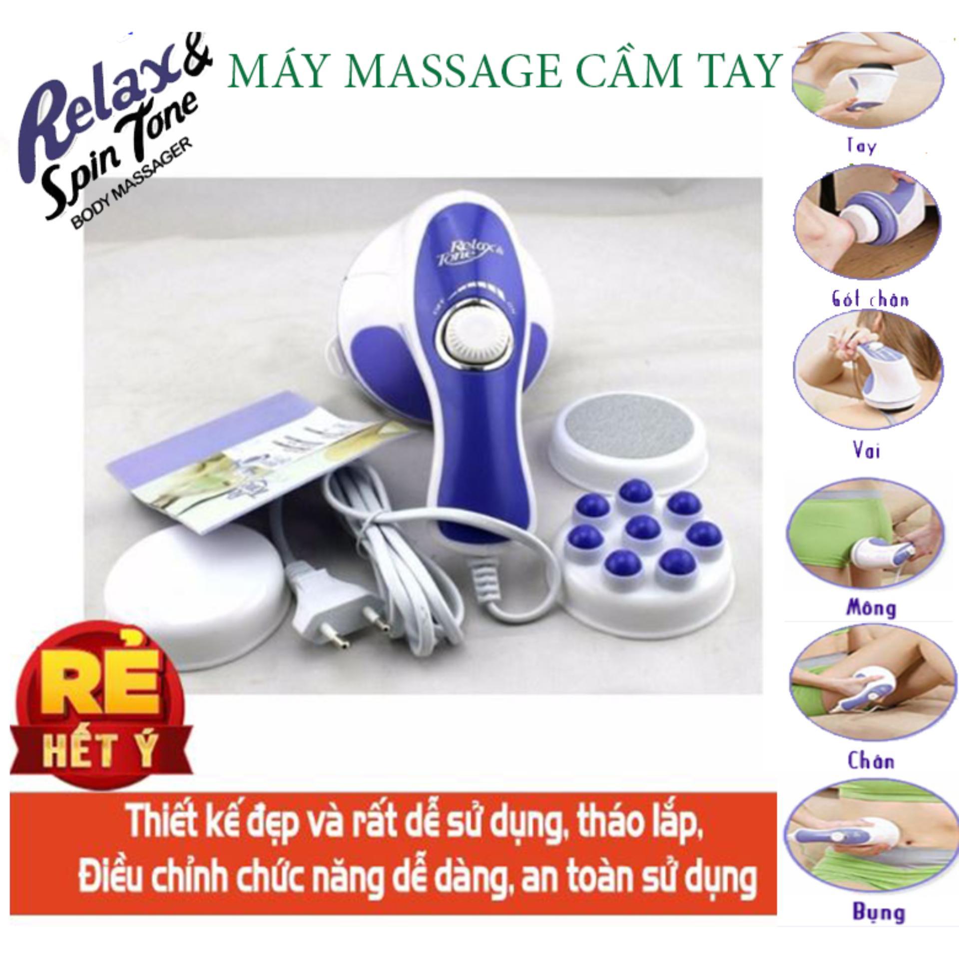 máy massge cầm tay giảm mỡ toàn thân - PPK 273 - Máy Massage Cầm Tay Relax & Spin Tone Chất Lượng Cao, Siêu Tiện Lợi, Giá Tốt - Massage Toàn Thân Giá Rẻ - Giúp lưu thông tuần hoàn khí huyết - giảm căng thẳng, đau nhức-BH UY TÍN 1 ĐỔI 1 Nhật Bản
