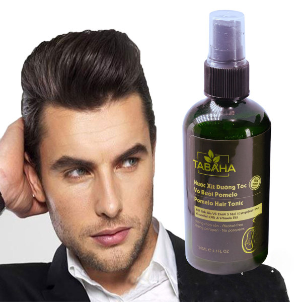 Xịt dưỡng tóc tinh dầu bưởi Pomelo Tabaha 120ml mọc tóc nhanh cho Nam bị rụng tóc nguy cơ hói tóc giá rẻ
