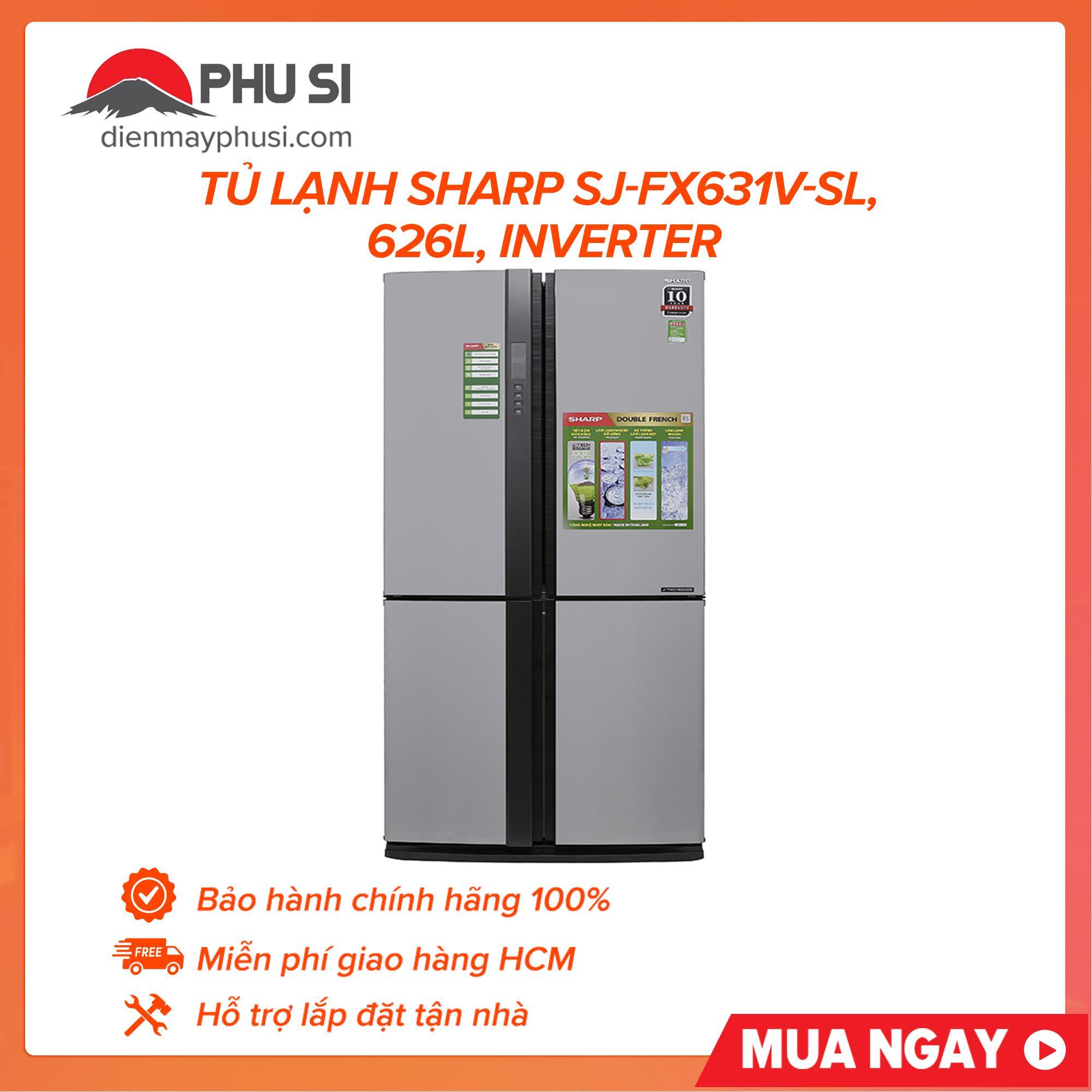 Bảng giá Tủ lạnh Sharp SJ-FX631V-SL, 626L, Inverter Điện máy Pico