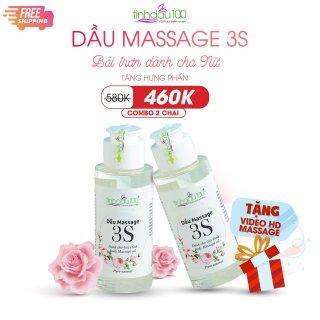 Combo 2 chai Dầu massage bôi trơn 3S dành cho nữ. Tặng video hướng dẫn massage thumbnail