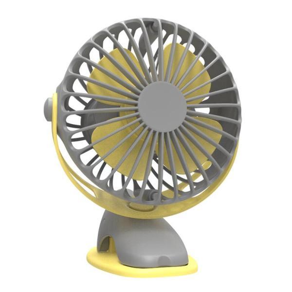 4000Mah Portable Cooling Mini Usb Fan 4 Speeds 360 Degree All-Round Rotation Rechargeable Air Fan Usb Charging Desktop Clip Fan