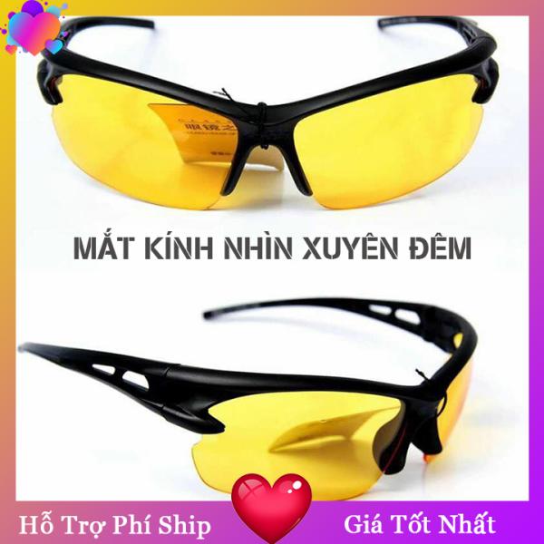 Giá bán Mắt kính nhìn xuyên đêm, phân cực dạ quang, sử dụng được ngày lẫn đêm, Chặn ánh sáng chói lóa của ánh đèn pha xe ngược chiều giúp bạn có tầm nhìn tốt NiceShop - MK0135