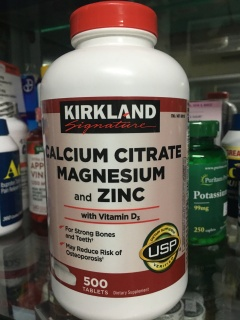 Bổ Sung Canxi Kirkland Calcium Citrate Magnesium and Zinc 500 viên của Mỹ thumbnail