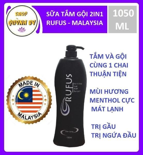 Sữa tắm gội 2 in 1 RUFUS MEN - Malaysia - Bạc hà mát lạnh - 1050 ML giá rẻ