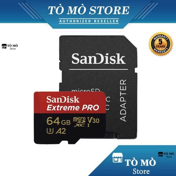 Thẻ Nhớ MicroSDXC SanDisk Extreme Pro V30 A2 64GB 170MB/s - Bảo hành 5 năm