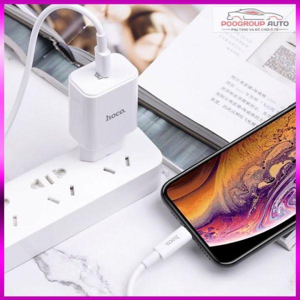 Bộ sạc nhanh cho Iphone Hoco C71A (hỗ trợ sạc nhanh 18w) hàng chính hãng