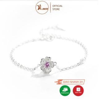 Vòng tay bạc kiểu dáng hoa đào xinh xắn phong cách Hàn Quốc ANTA Jewelry - ATJ7005 thumbnail