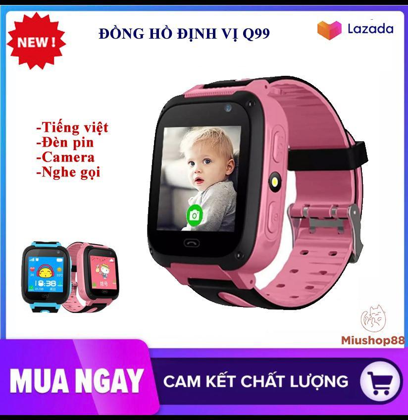 [Màu hồng] Đồng hồ định vị trẻ em, đồng hồ thông minh SmartKID Q99 màn hình cảm ứng có camera, giao diện tiếng việt, bảo hành 1 đổi 1 trong 7 ngày