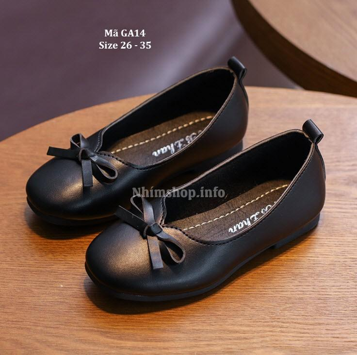 Giá bán Giày Bé Gái Màu Đen Kiểu Dáng Hàn Quốc GA14