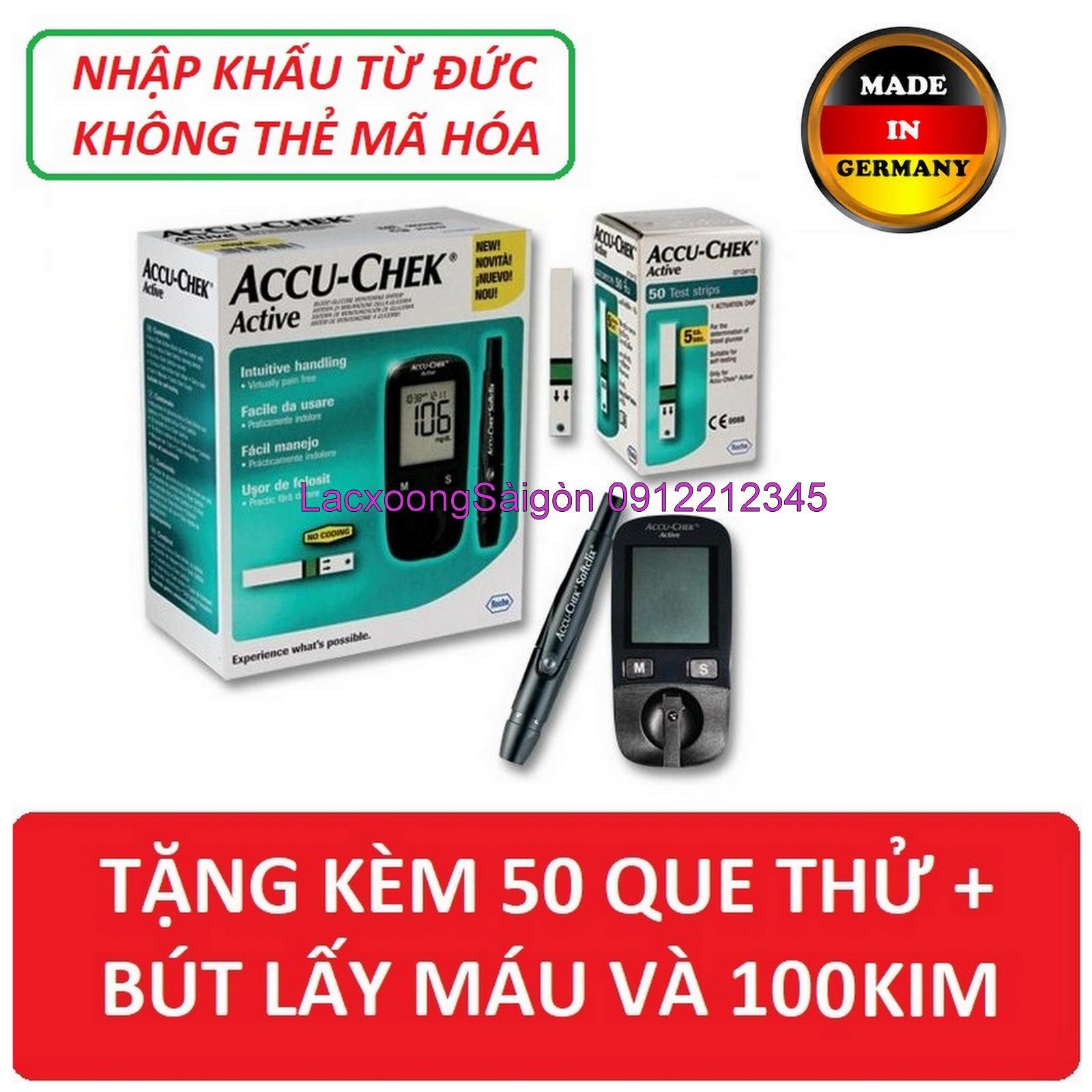 Máy đo đường huyết Accu chek Active Tặng ngay 50 test thử bán chạy