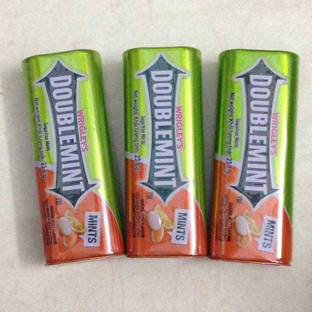 Combo 3 hộp Kẹo ngậm thơm miệng DoubleMint hộp thiếc hương Cam ((DoubleMint 23.8g x 3 sản phẩm)