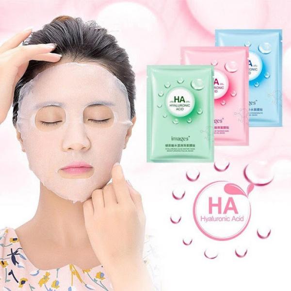 Mặt nạ giấy dưỡng trắng da mụn cấp ẩm thải độc HA Images CS25